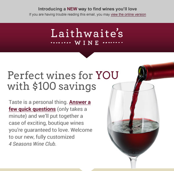 Laithwaite's Wine Customized Wine Club - Email
