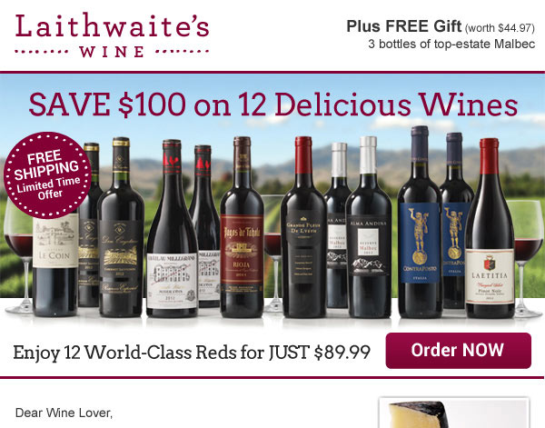 Laithwaite's Wine Recruitment Marketing Emails