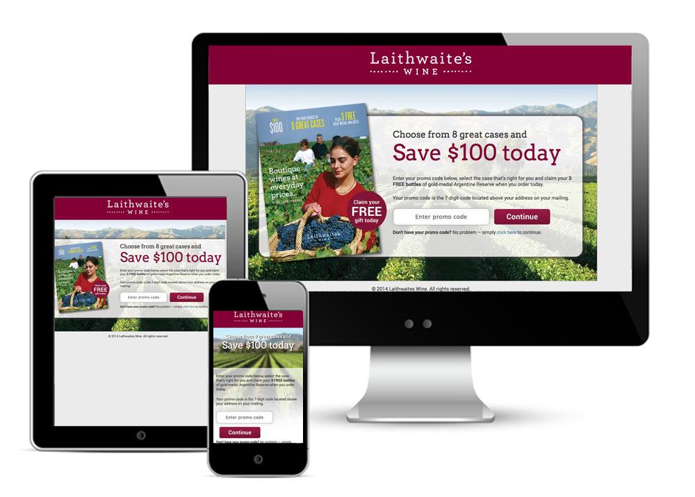 Splash Page for Laithwaite's Wine Offline Campaign