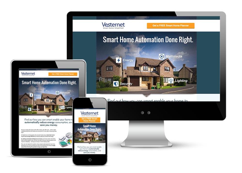 Responsive Landing Page design for Vesternet.com